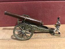 Marklin. Rare Metal Canon, Pull Release Mechanism. ~90-120mm Scale. Pre War (2)