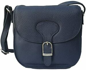 Simply Unearthed Real Leather handbag (Navy)