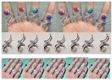 Wholesale Lot 51 Pcs 925 Silver Plated Turquoise,Opal,Coral & Mix Stone Rings