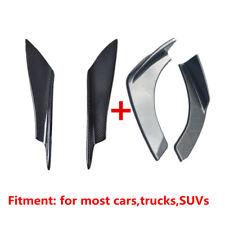 2X Carbon Fiber Front Bumper Splitter FBody Spoiler Canards + 2X Bumper Splitter
