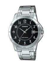 Casio Mtp-v004d-1b Mtpv004d Quartz Analog Black Dial Stainless Strap Male Watch