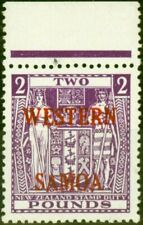 More details for western samoa 1955 £2 brt purple sg235 fine lightly mtd mint