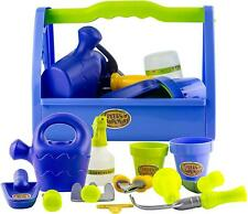 Kids Little Gardening Tool Box Set 14 Piece Toy Mini Garden Tools Kit Play