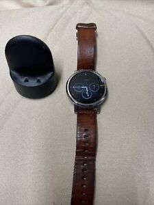 Motorola Moto 360 Smartwatch With Brown Leather Band