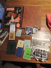 2 rare Huguenin Sport Plaketten, Ausweiskonvolut Kolumbien 1946 Priester Deutsch