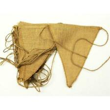 12 Natural Brown Jute Burlap Pennant Flags Triangle Banner Wedding Supplies Sale