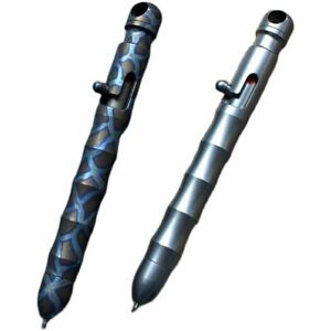 Titanium Alloy Bolt Tactical Ballpoint Write Signature Gel Business Office Pen