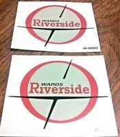 Montgomery Wards Riverside Benelli red/grey/black die cut tank transfers, pair