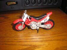 """1/18 ? 4 5/8"""" Super Motorcross 250 cc Dirt bike Suzuki Honda #28 Red FREE Ship"""