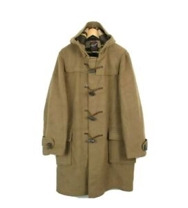 Gloverall Vintage Mens Tan Alexander Wool Blend Toggle Duffle coat Size Large 44