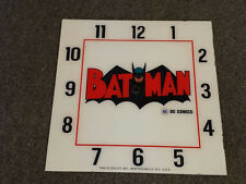 "*NEW*15"" SQUARE BAT MAN COMICS MAN CAVE RD GLASS FACE FOR PAM CLOCK"
