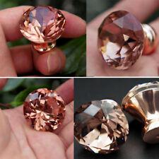 12Pcs Unique Color Pull Handle Rose Gold K9 Crystal Cabinet Drawer Door Knob
