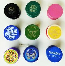 YO-YO'S  ADVERTISING TOY YEARS OF COLLECTING LOT WITH 9 BUTTERFLY DUNCAN PREMIER