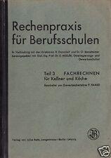 Fachrechnen für Kellner und Köche, 1941