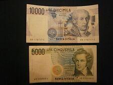 BANCONOTE ITALIA 10000 VOLTA+5000 BELLINI