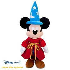 """Disney Store Fantasia Mickey Sorcerer Wizard 24"""" Plush Embroidered Features NWT"""
