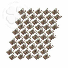 50X M5 5mm U Nut Fairing Clip, Extruded Steel Fastener Speed Mounting Clamp