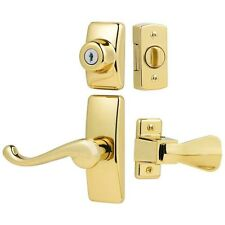 Storm Screen Door Lock Latch Lever Handle Keyed Deadbolt Modern Hardware Set New