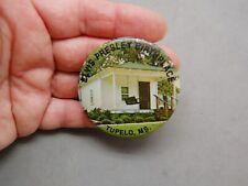"Elvis Presley Birthplace Tupelo Ms Photo Pinback Pin 2 1/4"" Souvenir"