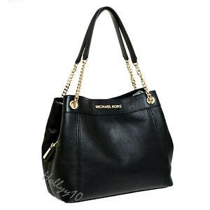 Michael Kors Tasche Handtasche Jet Set Item LG Chain Tote  Leder black neu