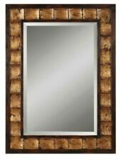 Uttermost Fluted Wood Rectangular Framed Mirror 38 x 28 - Great Condition
