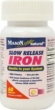 Slow Release Iron, Mason Naturals, 60 tablets 1 pack