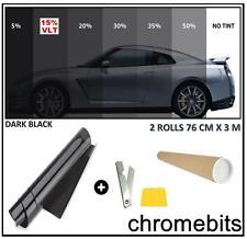 CAR VAN BUS WINDOW TINT FILM TINTING DARK BLACK SMOKE 15% 76cm x 6M