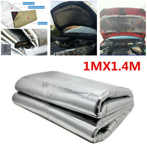 Car Turbo Exhaust Heat Shield Hood Insulation Fiberglass Cotton Mat Accessories