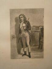 Gravure 19°  Portrait  personnage révolution : Barbaroux