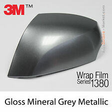 20x30cm FILM Gloss Mineral Grey Metallic 3M 1380 G281 New Series Car Wrap Vinyle
