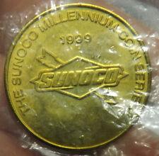 1999 Brass Sunoco Millennium Coin Series Token Columbus Discovers America Token