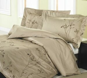 NEW LUXURY  camel/chocolate branches 3pcs DUVET COVER SET QUEEN available