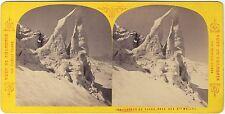 Tairraz Grands Moulets Chamonix Mont-Blanc France Photo Stereo Vintage Albumine