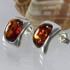 A369 Ohrringe Earrings 925 Silber Schmuck baltischer Bernstein Amber Modern