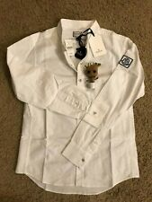 Brand New Moncler X Thom Browne Gamme Bleu Shirt in White, Size Medium