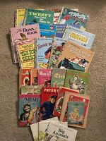 Assorted Lot of 25 Golden Books Whitman Others Large & Small 1950-1990