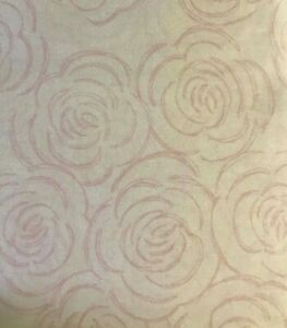Yves Delorme Floral Queen Fitted Sheet Pink White Ranunculus Flowers Cotton NWT