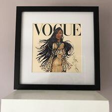 Disney Vogue Princess Framed Wall Art Picture Print 30x30cm - Pocahontas