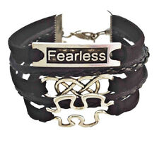 Fearless Double Infinity Puzzle Piece Autism Awareness Charm Bracelet
