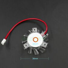5-pieces 36mm 2pin 12V Cooling Fan Mounting Hole 25mm For PC GPU VGA Card Cooler