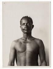 PHOTO ANCIENNE Portrait Homme Madacascar ? Colonie française Ethnique Vers 1930