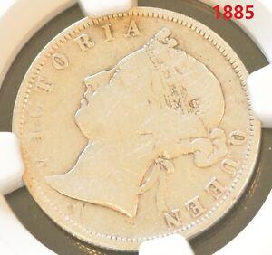 1885 China Hong Kong 20 Cent Victoria Silver Coin NGC VF Details