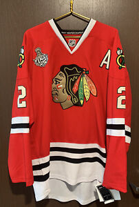 Chicago Blackhawks Reebok Keith NHL Authentic Jersey #2 Size 56 NWOT A Captain