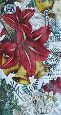 *MICHEL DESIGN WORKS Set of 15 Paper Guest Towel Buffet Napkins~JOYOUS CHRISTMAS