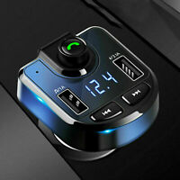 Bluetooth Car Kit FM-Transmitter Radio MP3 Player USB Charger Wireless Hand G0Y9