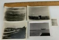 Original WWII Photo Lot of 5 USAAF Air Force Airfield Aircraft Plane Snow P-47