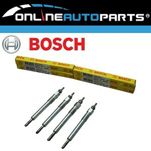 4 x Bosch Glow Plugs suits Holden Rodeo RA TF 4cyl 3.0L 4JH1TC 2001~2006