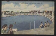 POSTCARD TAMPA FL/FLORIDA CUSCADEN PARK SWIMMING POOL YBOR CITY 1930'S