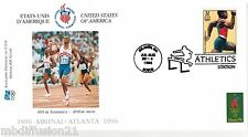 1996**FDC 1°JOUR**COMITE INTERNATIONAL OLYMPIQUE- 400M.HOMMES-ATLANTA*TIMBRE USA