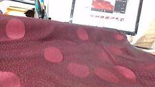 Last piece $7/m x 5m70 Maroon stretch mesh polka dots lace fabric 1m4 width.